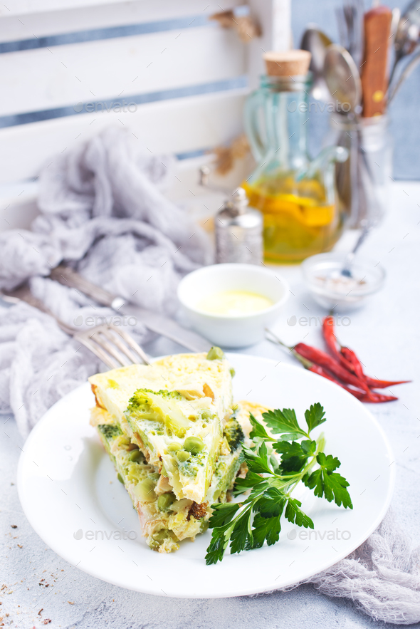 omelette with vegetables - Stock Photo - Images