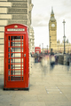 The iconic british old red telephone box - PhotoDune Item for Sale