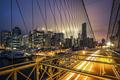 View of Brooklyn Bridge at sunset - PhotoDune Item for Sale