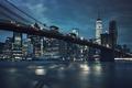 View of Brooklyn Bridge by night - PhotoDune Item for Sale