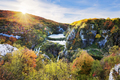 Waterfalls in the sunshine in Plitvice National Park - PhotoDune Item for Sale