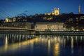 View of Lyon and Saone river at night - PhotoDune Item for Sale