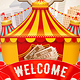 Vintage Circus Event Flyer Or Poster Template