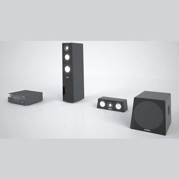 Yamaha sound system - 3DOcean Item for Sale