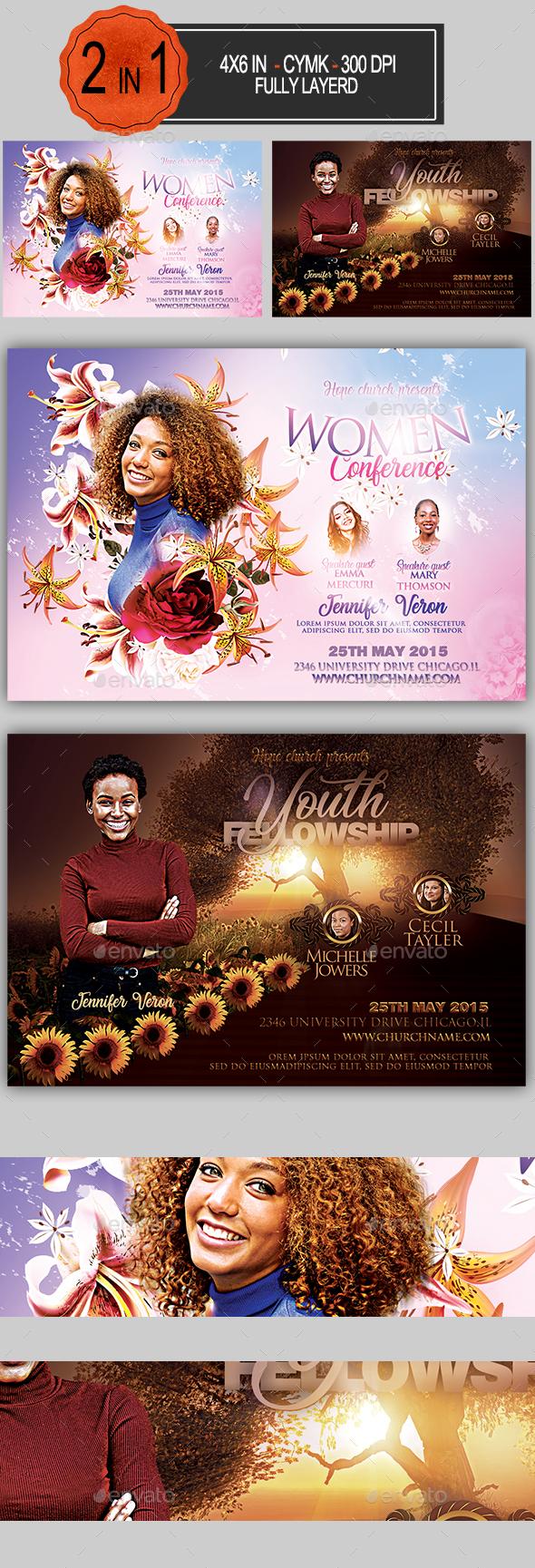 Multipurpose Church Flyer Bundle - Informational Brochures