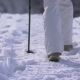 Foot Feet Steeps. Hiking Walking. . Snow Winter Landscape. Recreation Activity - VideoHive Item for Sale