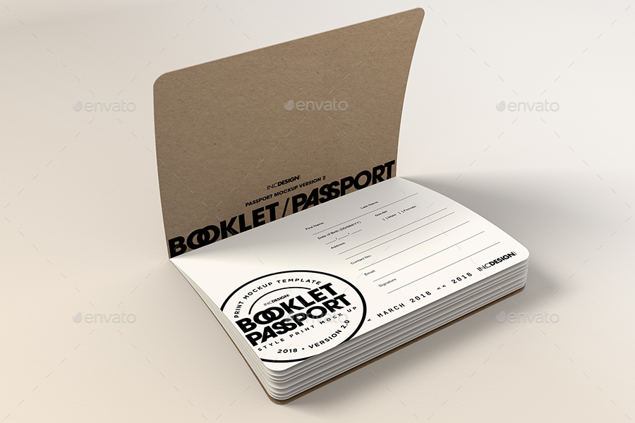 Passport Booklet Boarding Pass MockUp v.2 by incybautista | GraphicRiver