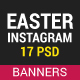 Easter Instagram Templates - GraphicRiver Item for Sale