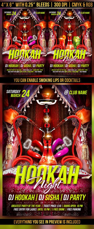 Hookah Night Flyer - Clubs & Parties Events