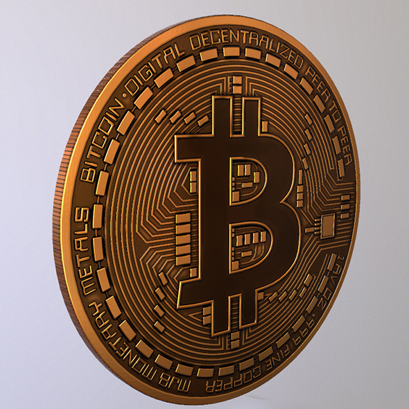 Bitcoin 2018 Lowpoly - 3DOcean Item for Sale