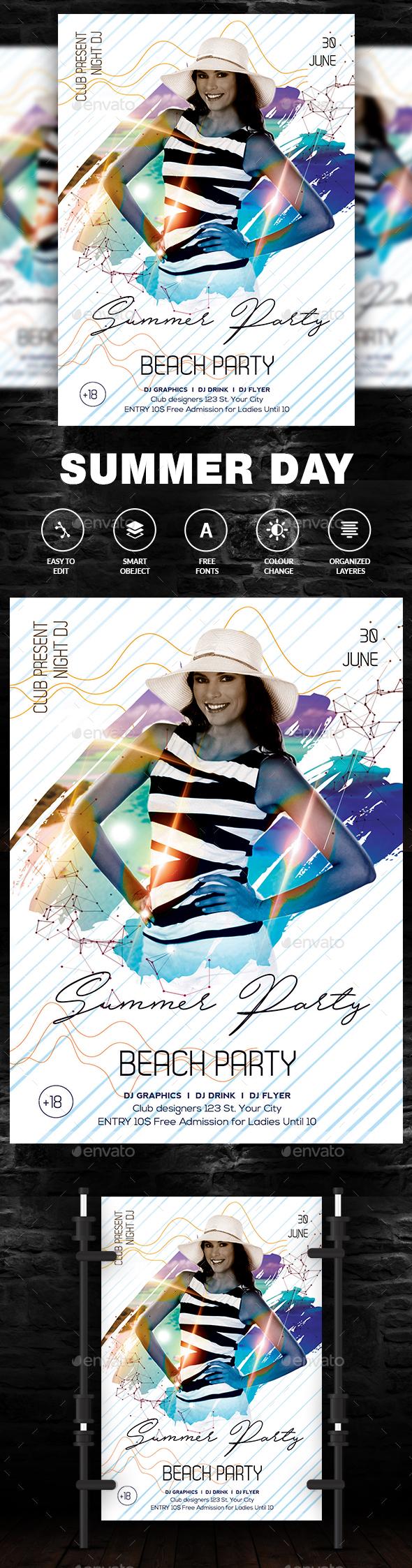 Summer Artist Event Flyer/Poster - Events Flyers