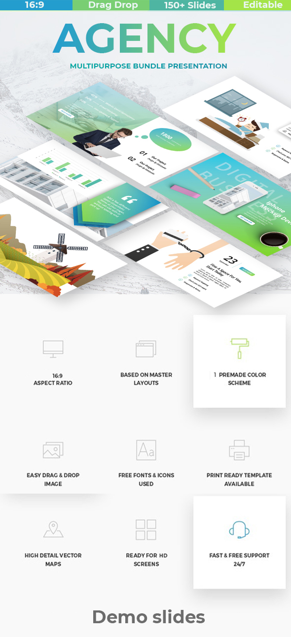 Agency Digital Business Keynote Template - Business Keynote Templates