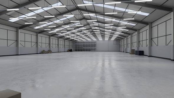 Industrial Building Interior 3 - 3DOcean Item for Sale