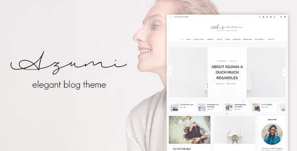 Image of Azumi - Elegant Blog Theme