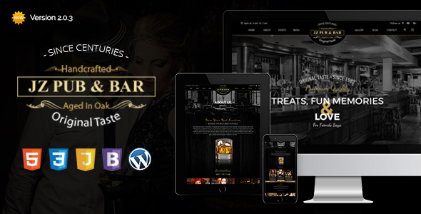 Jz Pub & Bar WordPress Theme - WordPress