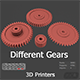 Different Gears 3D Models - 3DOcean Item for Sale