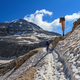 Dolomiti - hiker on snowvy path - PhotoDune Item for Sale