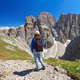 Dolomiti - hiker in Sella mount - PhotoDune Item for Sale