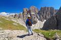 Dolomiti - hiker in Sella mount - PhotoDune Item for Sale