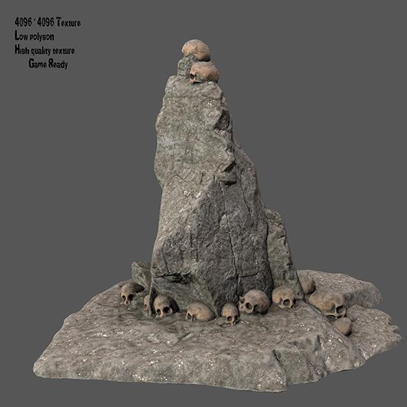 skull stone - 3DOcean Item for Sale