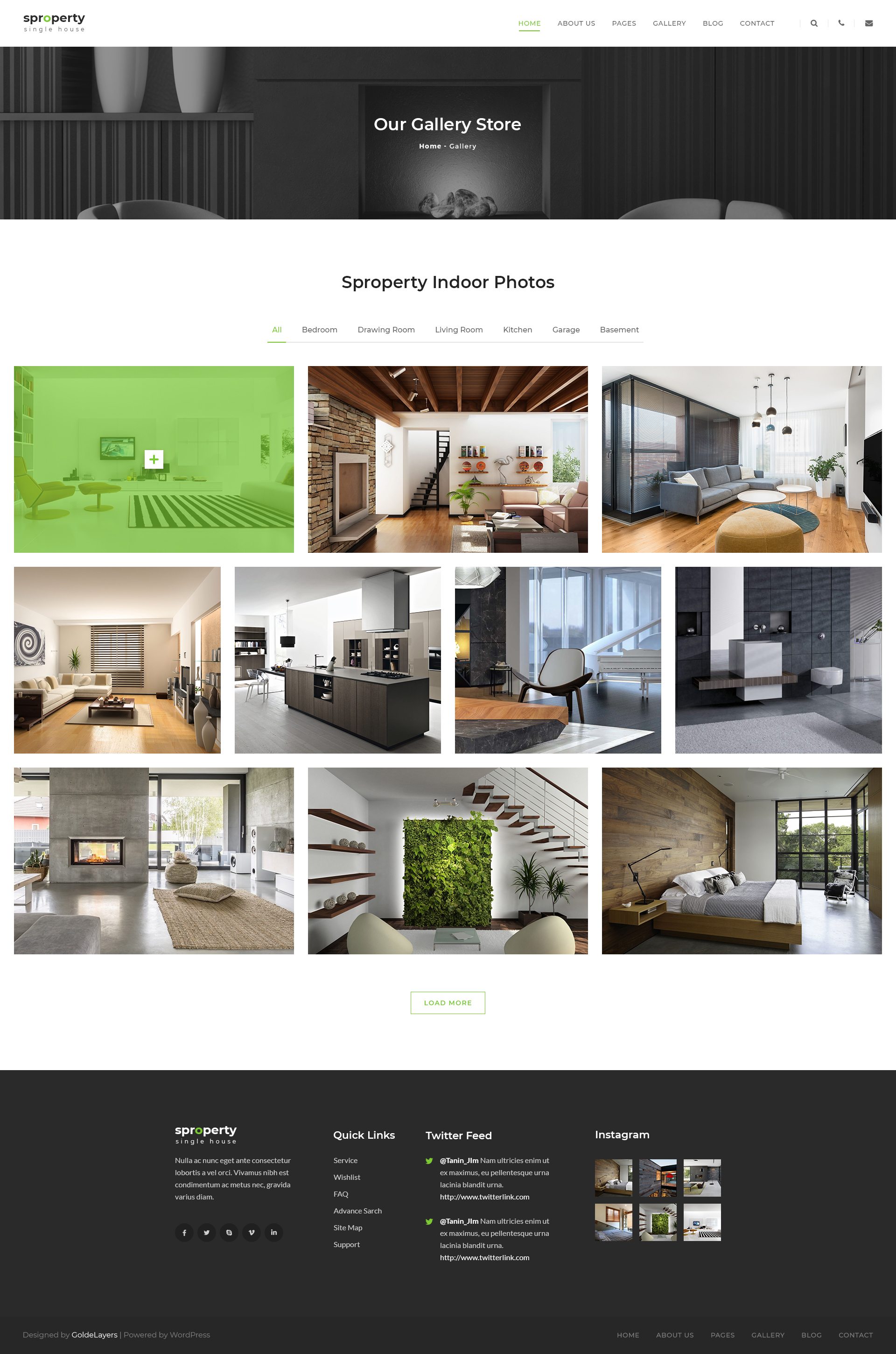 Sproperty - Single Property Real Estate PSD Template by GoldenLayers