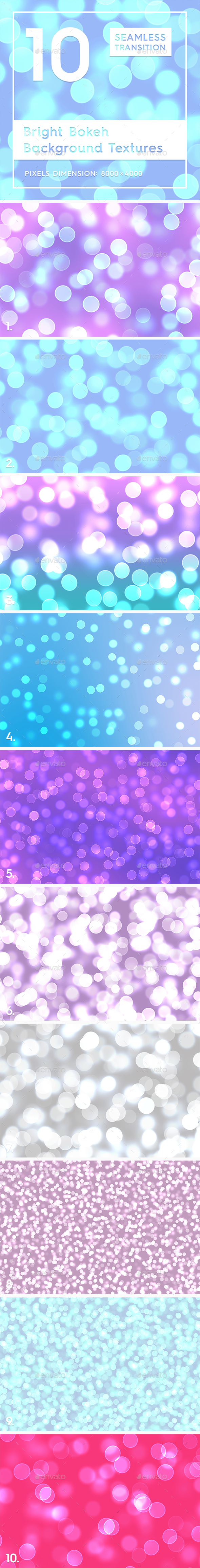 10 Bright Bokeh Background Textures - Abstract Backgrounds