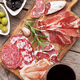 Salami, ham, sausage, prosciutto and wine - PhotoDune Item for Sale