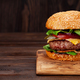 Tasty grilled home made burger - PhotoDune Item for Sale