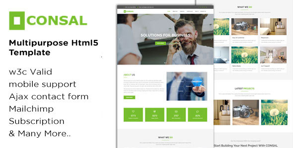 Image of CONSAL - Business Consulting and Corporate Agency HTML5 Template