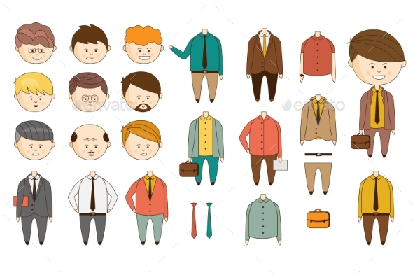 Man Character Constructor - People Characters