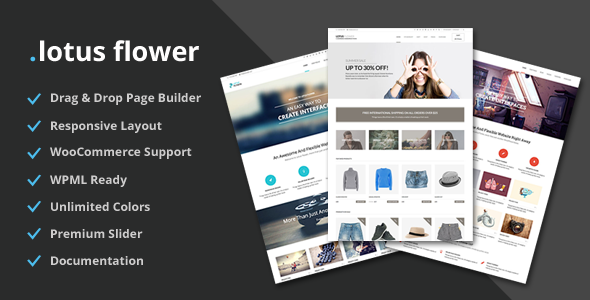 Lotus Flower - Flexible Multi-Purpose Shop Theme - WooCommerce eCommerce