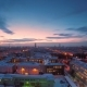 Evening City in Winter Evening City in Winter View From Roof Panoramic View on the Town and - VideoHive Item for Sale