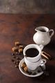 cup on a cup with espresso coffee on a dark background - PhotoDune Item for Sale