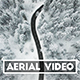Aerial Video of a Snowy Winter Road in Switzerland - VideoHive Item for Sale