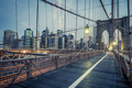 The Brooklyn Bridge by night - PhotoDune Item for Sale