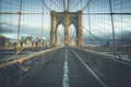 On the famous Brooklyn Bridge in the morning - PhotoDune Item for Sale