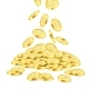 Realistic Gold Coin Stack on White Background