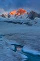 glacier du Tour in sunrise. French Alps - PhotoDune Item for Sale