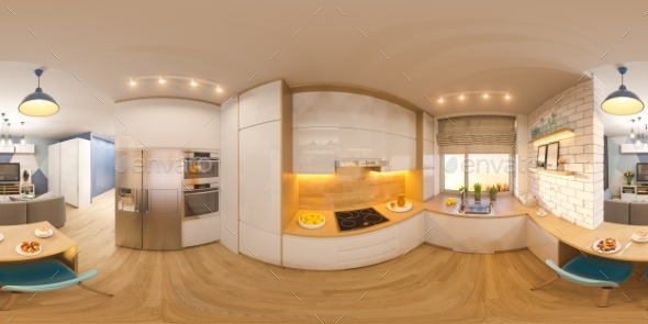3d Illustration Spherical 360 Seamless Panorama - Architecture 3D Renders