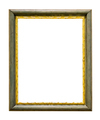 Green wooden picture frame with golden decorations - PhotoDune Item for Sale