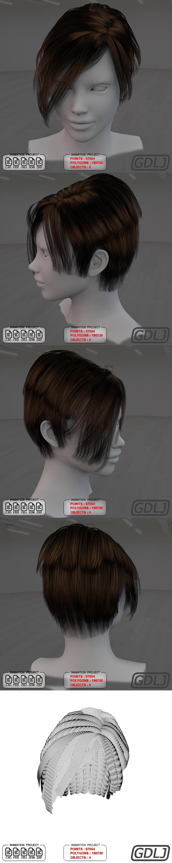 Short Hair Female 3D Models Full Textures - 3DOcean Item for Sale