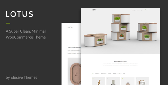 Lotus - Modern Minimal WordPress WooCommerce Theme