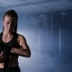 Boxing Woman Wrapping Her Hands for Boxing - VideoHive Item for Sale