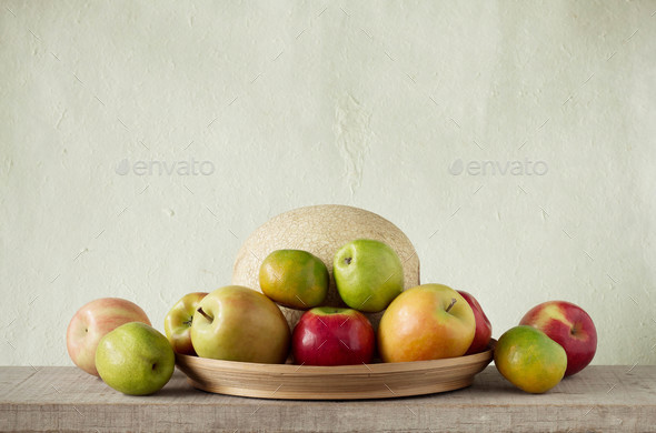 fruits in a tray - Stock Photo - Images