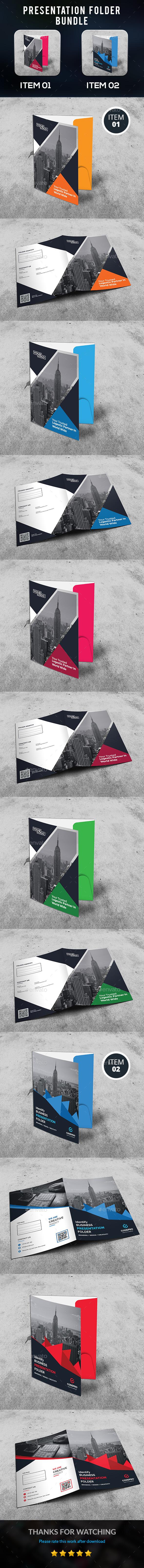 Presentation Folder Bundle - Stationery Print Templates