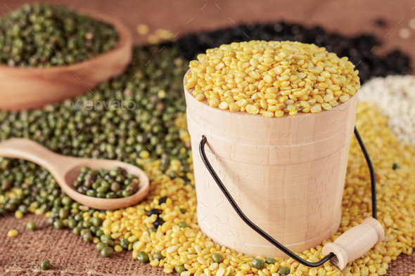 Soy beans on table - Stock Photo - Images