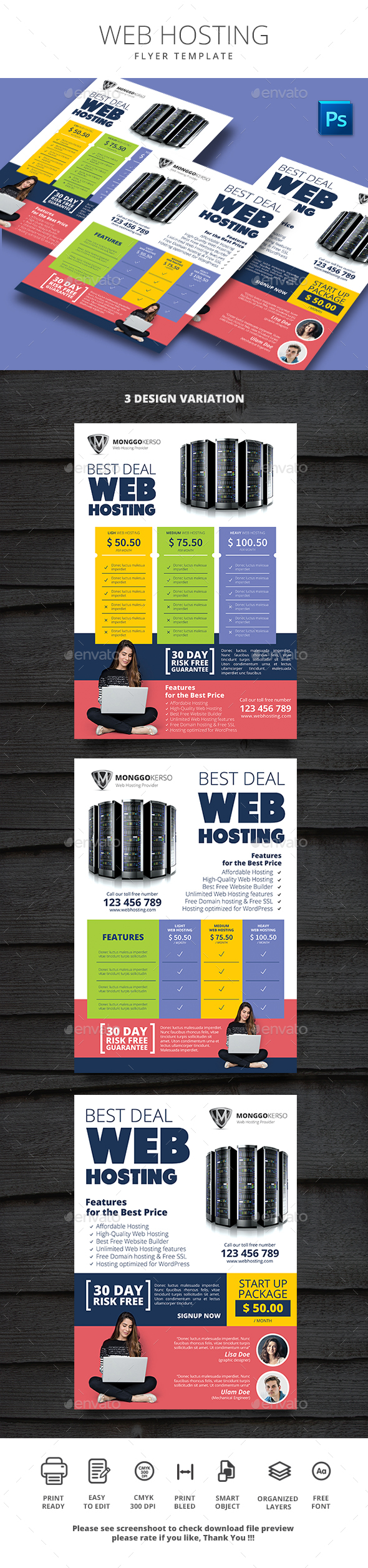 Web Hosting - Flyers Print Templates