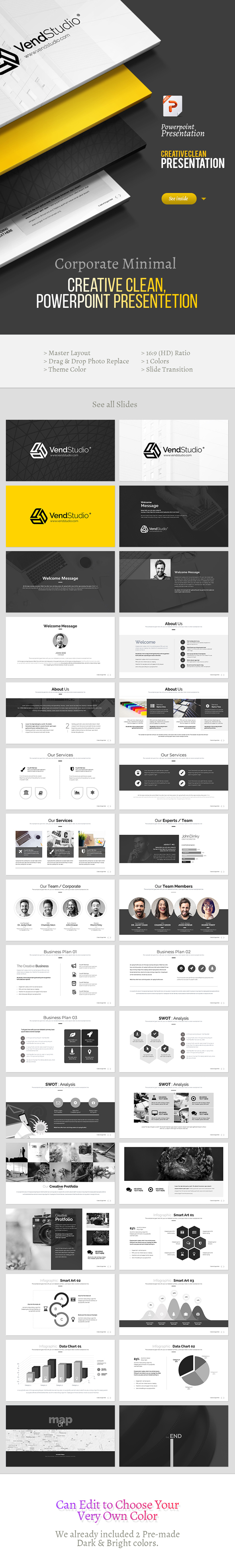 Creative & Clean Powerpoint Template - Creative PowerPoint Templates