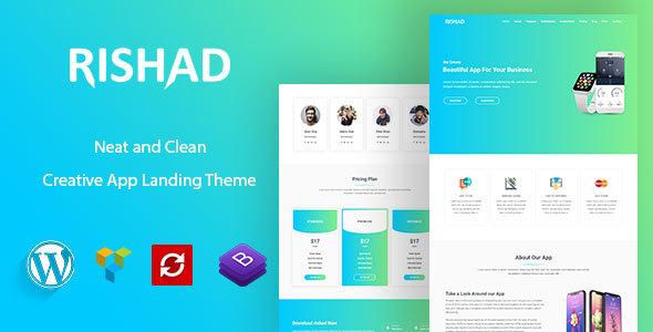 Image of Rishad - App Landing WordPress Theme