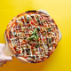 top view of pizza isolated and clipping path - PhotoDune Item for Sale